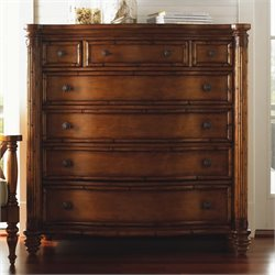 Tommy Bahama Home Island Estate Silver Sea 7 Drawer Chest in Plantation Finish