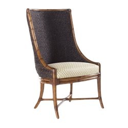 Tommy Bahama Home Island Estate Cruz Bay Fabric Host Arm Dining Chair in Plantation