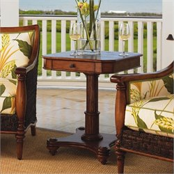 Tommy Bahama Home Island Estate Cinnamon Cove Lamp End Table in Plantation