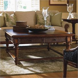 Tommy Bahama Home Island Estate Boca Square Wood Coffee Table in Plantation