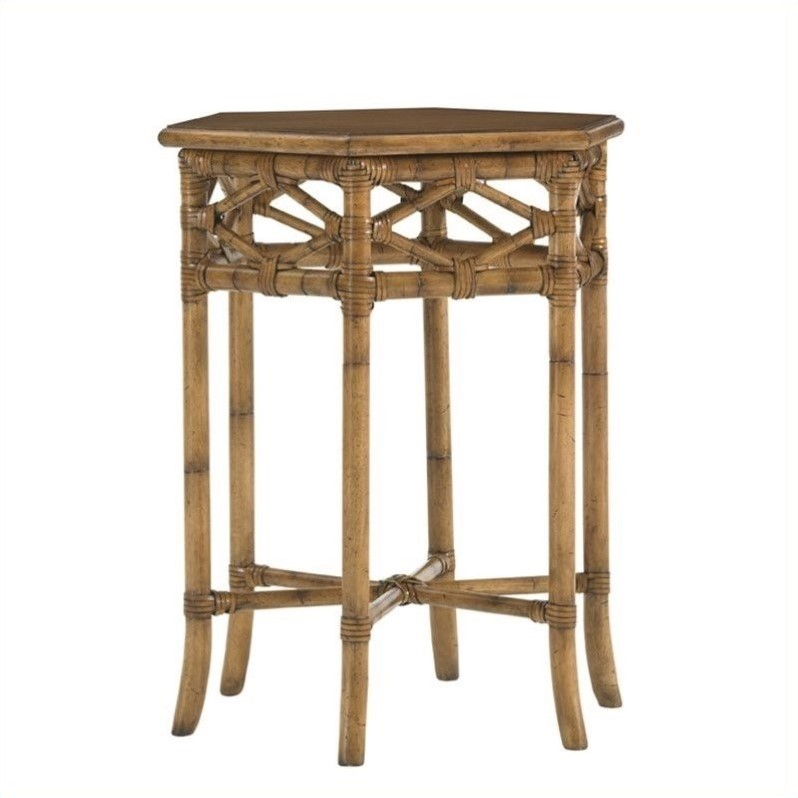 Tommy Bahama Home Beach House Coral Springs Accent Table in Golden Umber