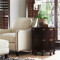 Tommy Bahama Home Royal Kahala Pacific Campaign Accent Table