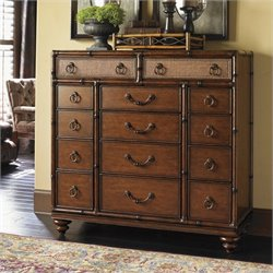 Tommy Bahama Home Landara Farallon Gentleman Chest in Rich Tobacco