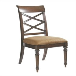 Tommy Bahama Home Landara Cedar Point  Dining Chair in Rich Tobacco