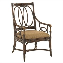 Tommy Bahama Home Landara Palmetto Fabric Arm Chair in Brown