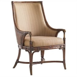 Tommy Bahama Home Landara Royal Palm Fabric Arm Chair in Brown