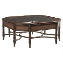 Tommy Bahama Home Landara Marianas Cocktail Table in Rich Tobacco