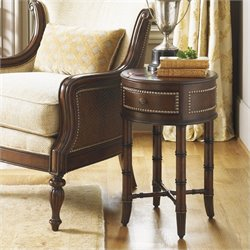 Tommy Bahama Home Landara Bandera Accent Table in Rich Tobacco