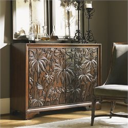 Tommy Bahama Home Landara Balboa Carved Door Accent Chest in Rich Tobacco