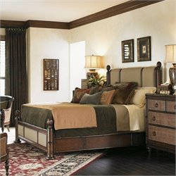 Tommy Bahama Home Landara Monarch Bay Poster Bed in Rich Tobacco