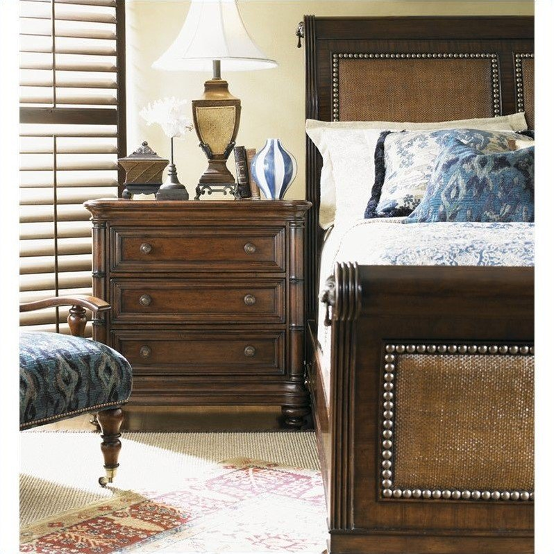 Tommy Bahama Home Landara Palmera Sleigh Bed In Rich