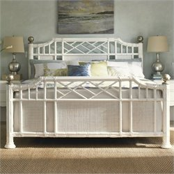 Tommy Bahama Home Ivory Key Pritchards Bay Panel Bed in White