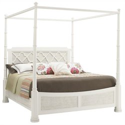 Tommy Bahama Home Ivory Key Southampton Panel Bed in White