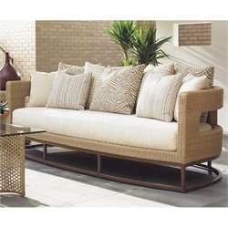 Tommy Bahama Home Aviano Wicker Sofa in Sand