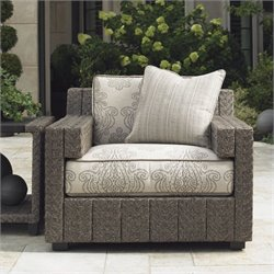 Tommy Bahama Home Blue Olive Wicker Chair in Gray