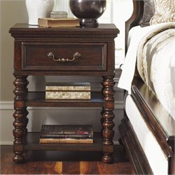 Tommy Bahama Home Kilimanjaro Christiana 1 Drawer Nightstand in Tangiers
