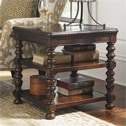 Tommy Bahama Home Kilimanjaro Carman End Table in Tangiers