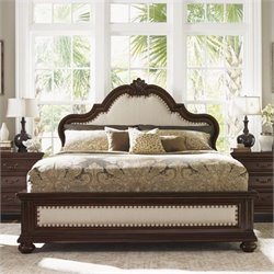Tommy Bahama Home Kilimanjaro Barcelona Panel Bed in Tangiers