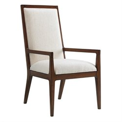 Island Fusion Natori Slat Back Fabric Arm Chair