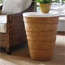 Tommy Bahama Island Fusion Kendari Round Accent Table in Cork