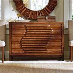 Tommy Bahama Island Fusion Madura 4 Drawer Wood Hall Chest in Walnut