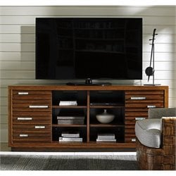 Tommy Bahama Island Fusion Princeville Wood TV Stand in Brown