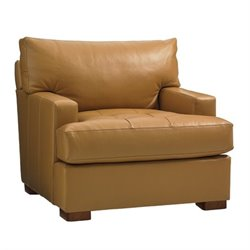 Tommy Bahama Island Fusion Osaka Leather Chair in Supple Saddle