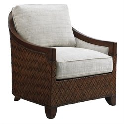 Tommy Bahama Island Fusion Kiawah Fabric Chair in White