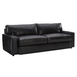 Tommy Bahama Island Fusion Sakura Leather Sofa in Black