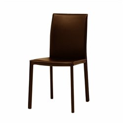 Modloft Varick Modern Art Leatherette Dining Chair in Brown