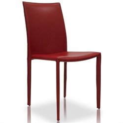 Modloft Varick Dining Chair in Red Leather
