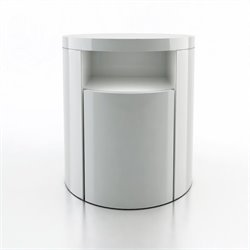Modloft Mulberry Nightstand in White Lacquer