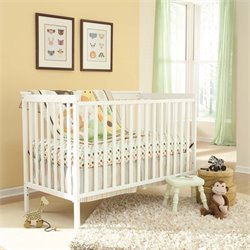 2-in-1 Convertible Crib in White
