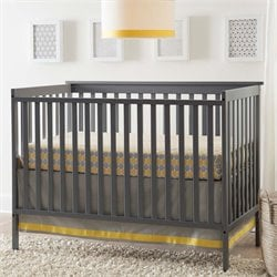 2-in-1 Convertible Crib in Gray