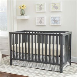 3-in-1 Convertible Crib in Gray