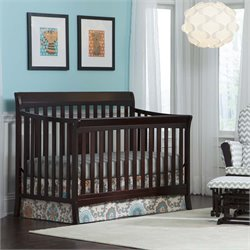 4-in-1 Convertible Crib in Espresso