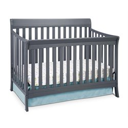 4-in-1 Convertible Crib in Gray