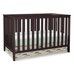 3-in-1 Convertible Crib in Espresso