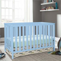 3-in-1 Convertible Crib in Sky Blue
