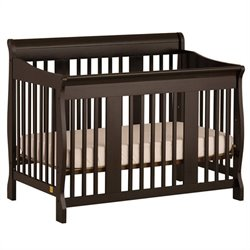 4-in-1 Stages Baby Crib in Black