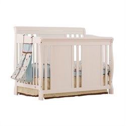 Fixed Side 4-in-1 Convertible Crib in White