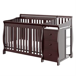 4-in-1 Crib & Changer Combo in Espresso