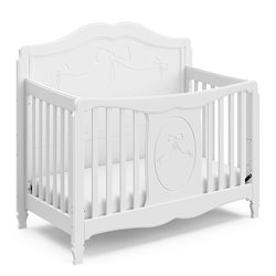 Fixed Side Convertible Crib in White