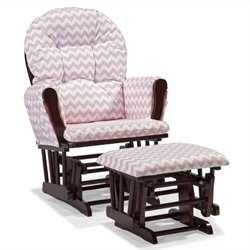 Custom Glider and Ottoman in Cherry and Pink