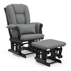 Custom Glider and Ottoman in Black and Grey
