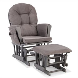 Custom Glider and Ottoman in Gray and Gray