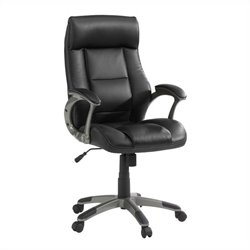 Manager Leather Office Chair in Black