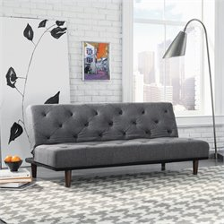 Crash Convertible Sofa in Dark Grey
