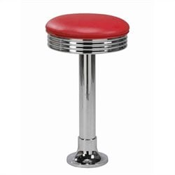 Regal Seating Franca Swivel Chrome Bar Stool