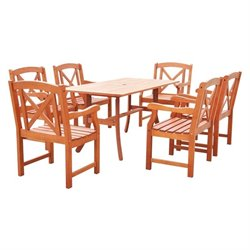7 Piece Patio Dining Set in Natural